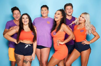 Pictured: (l-r) Ibiza Reps Deano, Molly, David, Marlie, Jordon and Chyna