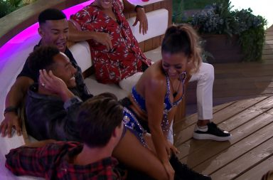 Kaz dancing on Josh. Kazimir Crossley Instagram, Love Island, ITV2, series 4