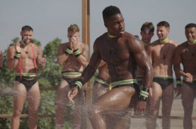 From ITV Studios Love Island: SR4: Ep39 on ITV2 Pictured: Idris Virgo and Alexandra during the challenge.