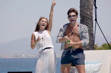From ITV Studios Love Island: SR4: Ep42 on ITV2 Pictured: Jack and Dani at the beach club. Dani Dyer actress.