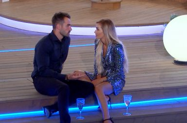 From ITV Studios Love Island: SR4: Ep53 on ITV2 Pictured: Paul Knows and Laura Anderson have a debrief after being saved.