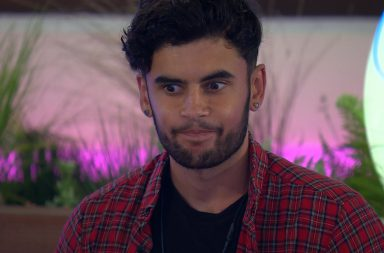From ITV Studios Love Island: SR4: Ep2 on ITV2 Pictured: Niall Aslam is shocked as Adam picks Kendall. Niall and Eyal bromance now