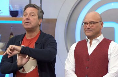 Celebrity Masterchef S13 - TX: 13/09/2018 - Episode: n/a (No. 7) - Picture Shows: **STRICTLY EMBARGOED UNTIL 00:01 HRS ON TUESDAY 4TH SEPTEMBER 2018** John Torode, Gregg Wallace - (C) Shine TV Ltd - Photographer: Screengrab