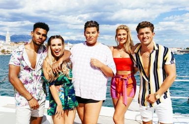 From Two Four Productions Weekender Boat Party on ITV2 Pictured: Jackson, Imogen, David, Charlotte and Jordan.