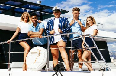 From Two Four Productions Weekender Boat Party on ITV2 Pictured: Charlotte, Jackson, David, Jordan and Imogen.