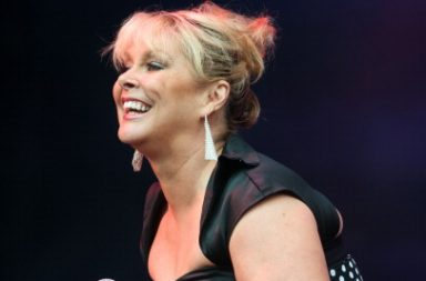 PERTH, UNITED KINGDOM - JULY 19: Cheryl Baker of Bucks Fizz performs on stage at Rewind Festival Scotland at Scone Palace on July 19, 2014 in Perth, United Kingdom. (Photo by Ross Gilmore/Redferns via Getty Images)
