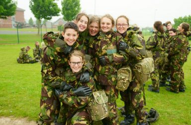 A Groupl of female Junior Soldiers from 7 Platoon . Otterburn UK