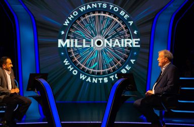 From Stellify Media Who Wants To Be A Millionaire on ITV Episode 3 Pictured: Nicholas Gunatilleke and Jeremy Clarkson.