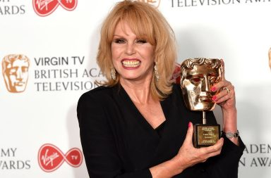 LONDON, ENGLAND - MAY 14: Joanna Lumley, winner of the Fellowship Award, poses in the Winner's room at the Virgin TV BAFTA Television Awards at The Royal Festival Hall on May 14, 2017 in London, England. (Photo by Jeff Spicer/Getty Images)