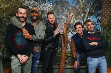 SYDNEY, AUSTRALIA - JUNE 08: The cast from Netflix's Queer Eye visits Featherdale Wildlife Park on June 8, 2018 in Sydney, Australia. (Photo by Don Arnold/Getty Images for Netflix Australia)