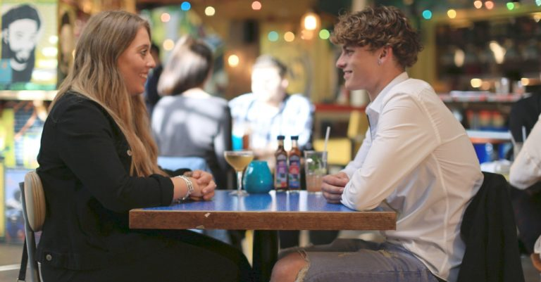 Eating with My Ex - TX: Chloe and Niall at Turtle Bay, London - Photographer: Arron Bowen