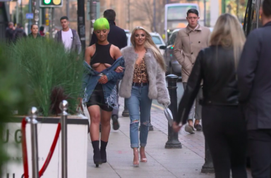 Screenshot: Pete Wicks green hair date
