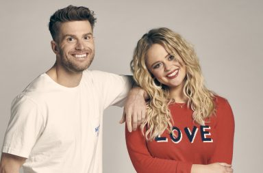 From Keshet Productions Singletown on ITV2 Pictured: Joel Dommett and Emily Atack.