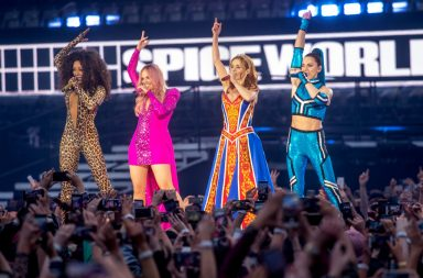 DUBLIN, IRELAND - MAY 24: Mel B, Emma Bunton, Geri Halliwell and Melanie C of The Spice Girls perform on the first night of the bands tour at Croke Park on May 24, 2019 in Dublin, Ireland. (Photo by Dave J Hogan/Getty Images)