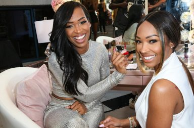 HOLLYWOOD, CA - JULY 24: Khadijah Haqq and Malika Haqq attend Fashionsta Launch at NeueHouse Hollywood on July 24, 2018 in Hollywood, California. (Photo by Robin L Marshall/Getty Images)