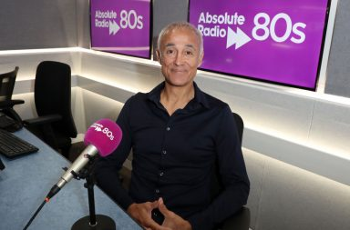 LONDON, ENGLAND - OCTOBER 03: Andrew Ridgeley during a visit to Absolute 80's Radio on October 03, 2019 in London, England. (Photo by Neil Mockford/Getty Images)