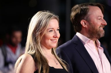 "LONDON, ENGLAND - OCTOBER 09: Victoria Coren Mitchell and David Mitchell attend the ""Greed"" European Premiere during the 63rd BFI London Film Festival at the Odeon Luxe Leicester Square on October 09, 2019 in London, England. (Photo by Tristan Fewings/Getty Images)"