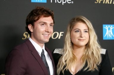 SANTA MONICA, CALIFORNIA - OCTOBER 10: Daryl Sabara and Meghan Trainor attend the City Of Hope's Spirit of Life 2019 Gala held at The Barker Hanger on October 10, 2019 in Santa Monica, California. (Photo by Michael Tran/Getty Images)