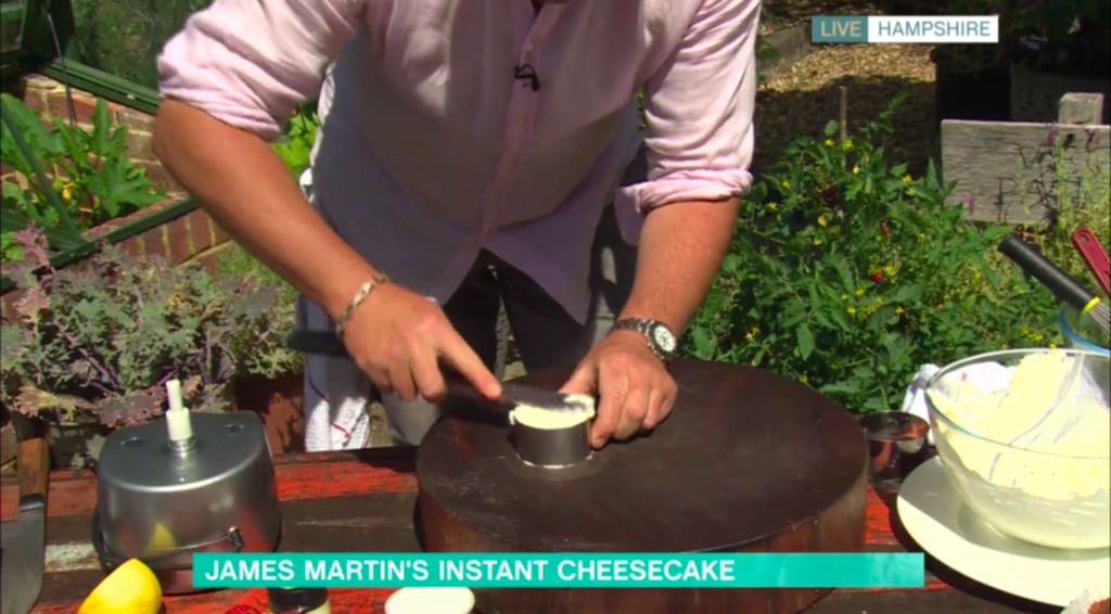 This Morning: Make James Martin's cheesecake recipe ...