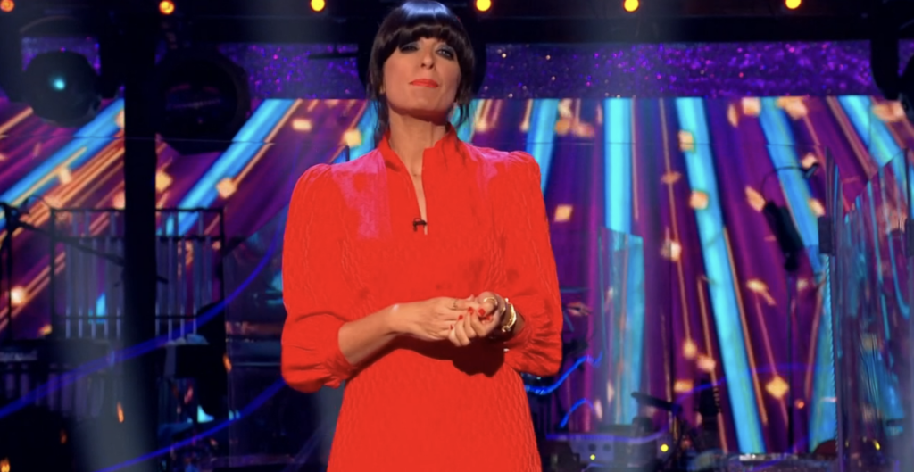 claudia winkleman red dress strictly 2020
