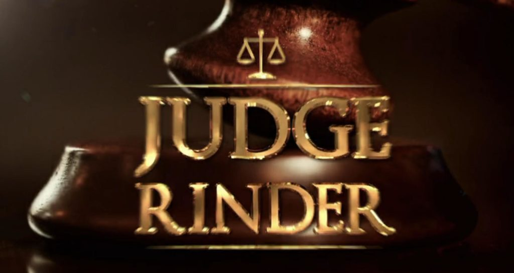 who is peter on judge rinder