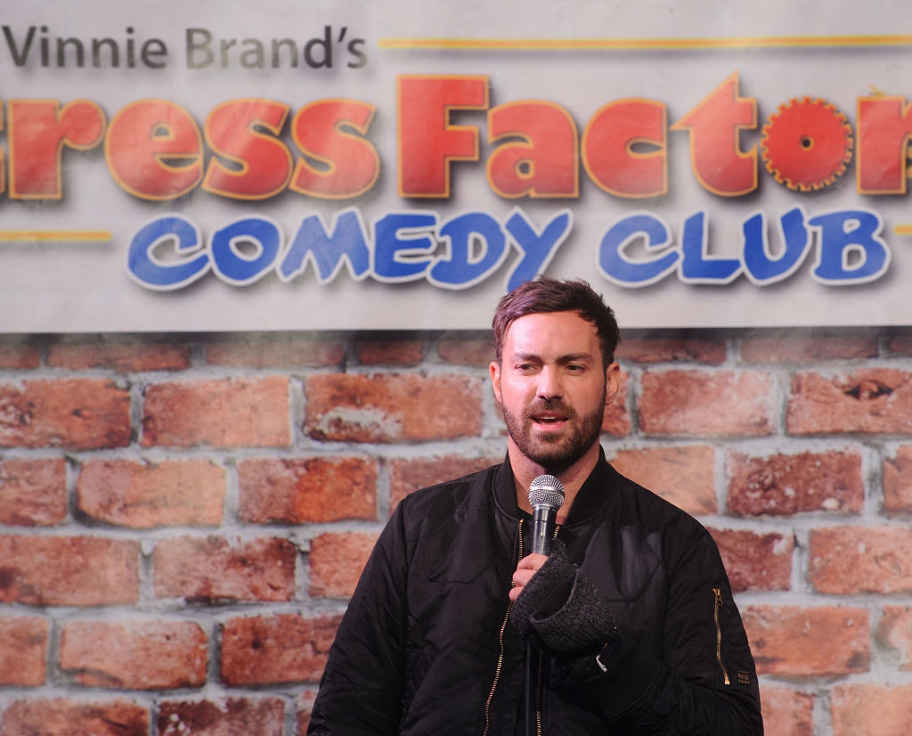 Comedian Jeff Dye Performs At Stress Factory Comedy Club