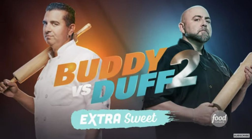 what do they do with the cakes on buddy vs duff